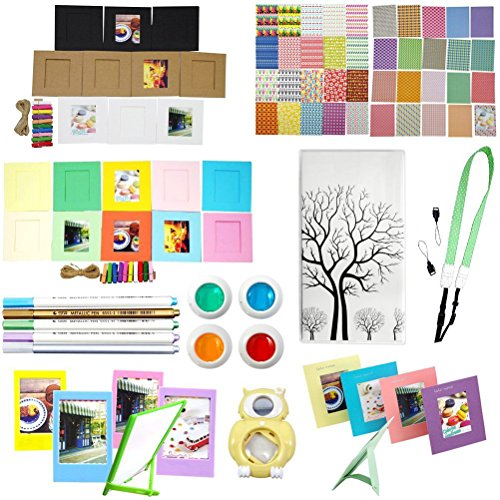 Katia Sofortbildkamera Instax Mini 8 Zubehör - Mini Buch Album - Selfie Len - Filter - Kamera Bügel - Mini Bilderrahmen - Dekor-Aufkleber-Border - Mini-Wand-Dekor Hängerahmen - Set 13 - Farbe6
