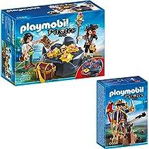 PLAYMOBIL® Piraten 2-tlg. Set 6683 Piraten-Schatzversteck + 6684 Piratenkapitän