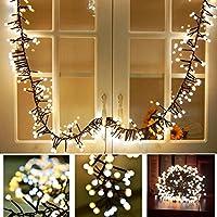 [Patrocinado]Tomshine Guirnaldas Luces, 400 LEDs 8M Cadena de Luz con 8 Modos Impermeables para Decoración de Interior y al Aire Libre, Boda, Jardín
