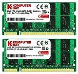 Komputerbay SODIMM Arbeitsspeicher 8GB (800MHz, 200-polig, 2 x 4GB) DDR2-RAM Kit