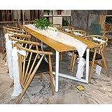 OurWarm weiß Spitze Tischläufer Blumenmuster und 10pcs Vintage pitze Stuhl-Schärpen Boho Hochzeit Party Dekoration zu Hause
