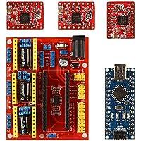 SainSmart CNC Shield V4 + Nano V3.0 + 3 xA4988 Reprap Stepper Drivers Kit for Arduino 3D Printing