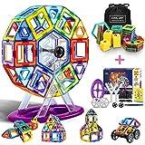 LOORI Magnetische bouwstenen, 100 stuks magnetische bouwblokken set, magnetische bouwsteen pedagogisch cadeau voor kinderen, magnetische bouwstenen auto speelgoed / robot / dier / Ferris Wheel