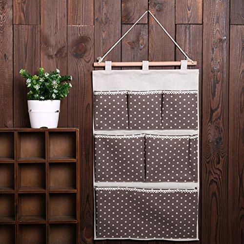 Highdas borsa portaoggetti da parete colorato in stoffa - Portaoggetti bagno ...