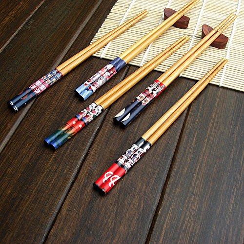 bingqing-lucky-cat-patron-cinco-pares-de-palillos-japoneses-decorado-5-color