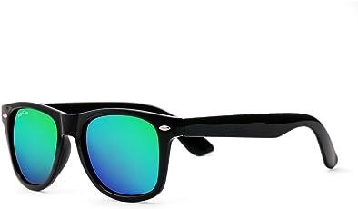 Royal Son UV Protected Wayfarer Sunglasses For Men And Women (RS006WF 53 Green Mirrored Lens)