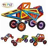 Best Creatividad para Niños Juegos Para 6 años de la - Anpress 46 PCS Bloques de construcción magnéticos, Construcción Review