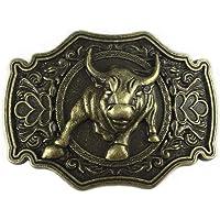 LKMY Bronze Long Horn Bull Rodeo Western Cowboy Belt Buckle For Men