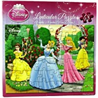 Disney Princess Lenticular Puzzle - Belle, Cinderella, Sleeping Beauty, and Snow White by Cardinal Industries
