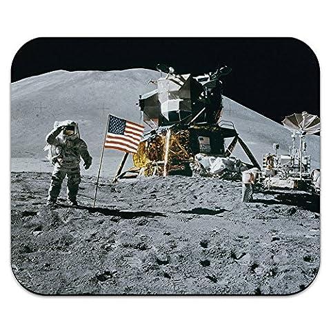Astronaut Moon Landing - American Flag Mouse Pad Mousepad