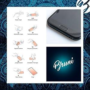 Bruni Película Protectora para Sigma Pure GPS Protector Película - 2 x Claro Lámina Protectora de Pantalla