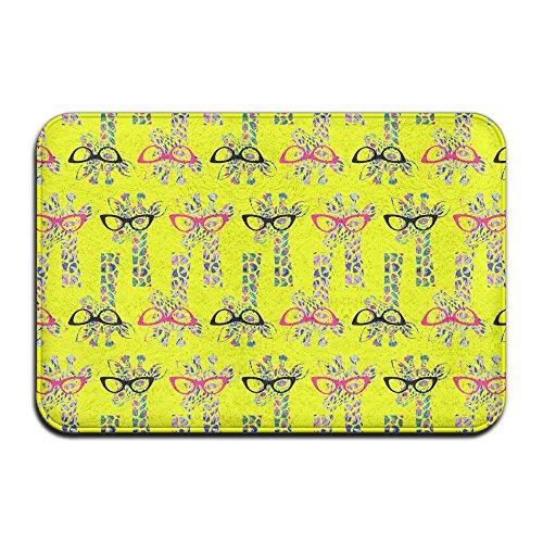 Poping In Bunte Giraffe Sonnenbrille Rutsch Teppich Fußmatte für Innen-/Front Tür/Badezimmer/Küche