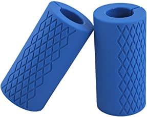 Kobo Thick Bar Grips Turns Barbell, Dumbbell, and Kettlebell Into Shark Gripz For Fat Bar Training And Muscle Growth. Strengthen Your Forearm, Biceps, Triceps, Chest. For CrossFit, Strongman Bodybuilding