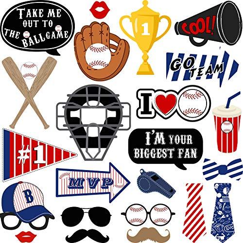 24 Stücke Baseball Foto Stand Requisiten Kit Baseball Thema Party Geburtstag Party Lieferungen für Erwachsene Kinder