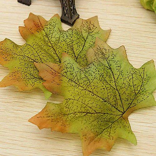Preisvergleich Produktbild Bluelover 50 Stück Künstliche Ahorn Blätter Home Dekoration-Gelb