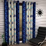 Galaxy Home Decor Polyester Curtains for Long Door 9 Feet, Pack of 2