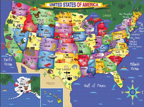 White Mountain Puzzles USA Map - 300 Piece Jigsaw Puzzle by White Mountain Puzzles