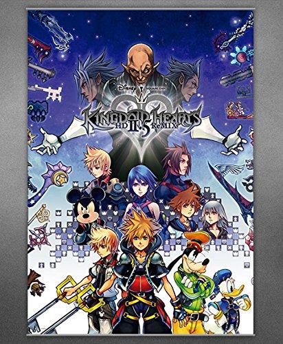 KINGDOM HEARTS 2,5 Remix Wandschriftrolle Plakat KINGDOM HEARTS 2.5 ReMIX Wall Scroll Poster
