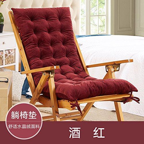 WDZA Le Coussin De Chaise Simple Office Étudiants Classe Pique-Nique Jardin Assise, 48X120Cm, Rouge Foncé