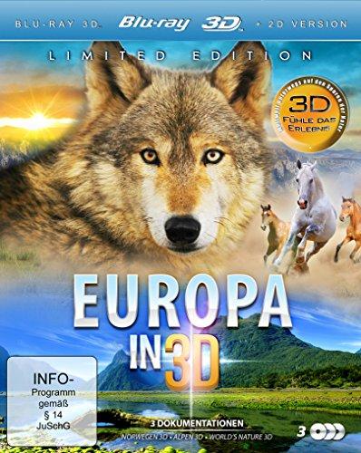 Europa in 3D (Norwegen 3D, Alpen 3D, World's Nature 3D) (Limited Edition im 3 Disc Set) [3D Blu-ray]