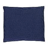 ULLENBOOM ® Baby Kopfkissenbezug 35x40 Blau (mit Hotelverschluß, passend zu Baby-Bettwäsche 80x80 cm, Motiv: Punkte, schlichtes Design)