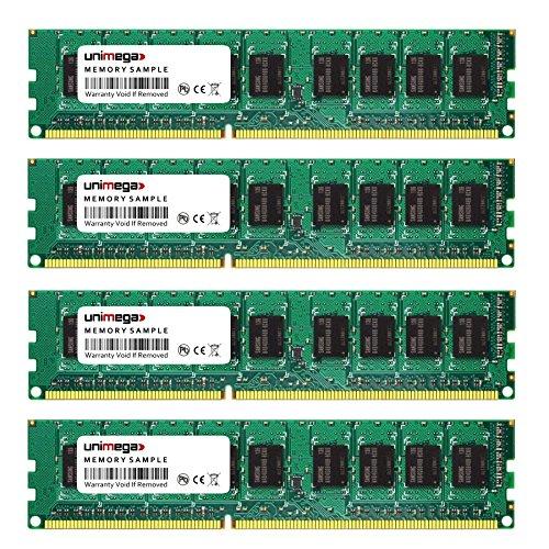 16GB Dual Channel KIT (4x 4GB) für HP Compaq ProLiant DL160se G6 DDR3 1333MHz PC3-10600E ECC UDIMM RAM Speicher Memory -