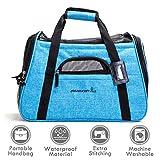 ubest Transporttasche, Hundetragetasche Katzentragetasche, Flugtasche Reisetasche für Hund Katze Hase Kaninchen Kleintiere, Blau