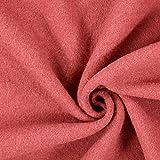 Fabulous Fabrics Walkloden – rostrot — Meterware ab 0,5m — zum Nähen von Mänteln, Jacken und Mänteln und Blazern