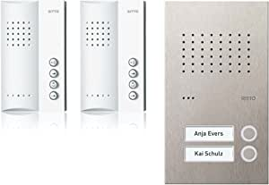 Ritto RGE1818425 Acero pur Audio-Set Freisprechstelle 2 WE, inkl 50 +Punkte, Edelstahl, Weiß