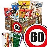 60. Geburtstag Geschenk - Ostprodukte Süssigkeiten Box + Geschenkverpackung