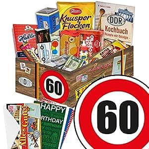 60 geburtstag geschenk s ssigkeiten box mit ddr waren geschenkverpackung verkehrsschild 60 - Geschenk zum 60 mutter ...
