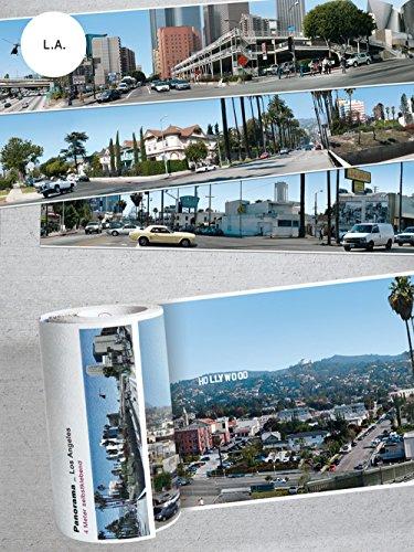 Panorama Borte STÄDTE · 4 Meter lang ohnne Motiv-Wiederholung · selbstklebend (LOS ANGELES) (Los Angeles, Stadt, Fototapete)