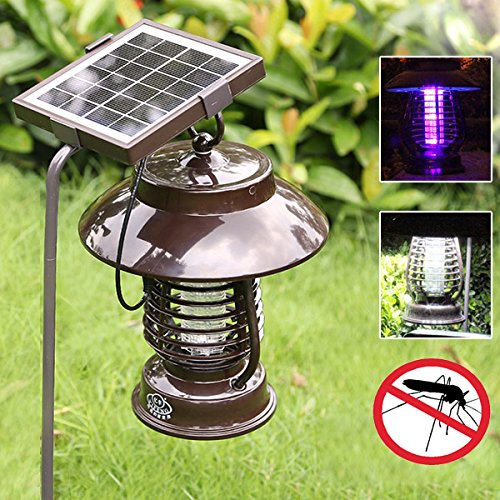 Bg Außenbereich Licht (Bureze Garden Solar Power Anti-Moskito LED Licht Indoor Outdoor Wasserdicht Mückenvernichter Lampe)