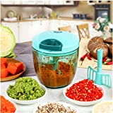 MAXGOODS 900ml Speedy Manual Food Chopper Mini Chopper Food Pull Processor/ Vegetable Slicer/ Dicer/ Mincer for Cut Fruits,Vegetables,Nuts,Herbs,Onions,Garlics