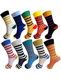 RC. ROYAL CLASS Boys and Girls Calf Length Cotton Striped Multicolored Socks (Pack of 10 Pairs)
