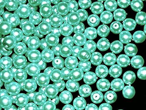 50Perles en verre tchèque, perles Revêtement, ESTRELA Rondes 6mm jade vert mat