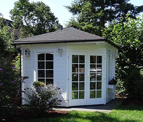Modernes 5-Eck Holz Gartenhaus VICTOR mit Boden