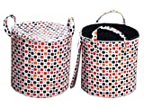 Desirica Multipurpose Foldable & Collapsible Pop-Up Round Laundry Bag Basket and Carry Handle