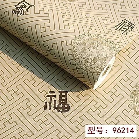 Modern Chinese Culture Wallpaper Simple Lattice Plaid Tea Shops The