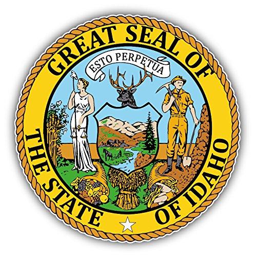 Idaho USA State Seal Auto-Dekor-Vinylaufkleber 12 X 12 cm - Idaho State Seal