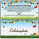 Einladungskarten als Eintrittskarte Einladung Geburtstag Gartenparty Sommerfest - 20 Stück
