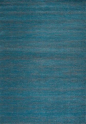 Teppich Modern Wohnzimmer Türkis Kurzflor Meliert Farbecht Pflegeleicht Schadstoff Geprüft - VIMODA, Maße:120 cm x 170