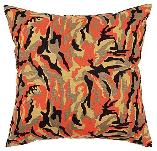 tangdepot174; Camouflage Überwurf Kissen, Camo Kissen-100% Baumwolle, Handgefertigt-Viele Farben & Größen erhältlich, Baumwolle, C06 Orangle Camo, 50,80 cm X 50,80 cm - Orange Camo Stoff