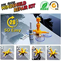 Windschutzscheibe Reparatur Kit Windschutzscheibe Repair Tool Set – Professionelle Quick Fix DIY Auto Kit Fenster Glas Reparatur-Kits für Kratzer Chip & Crack