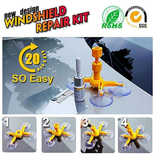Windschutzscheiben-Reparatur-Set - Professionelles Schnell-Fix, DIY Auto Kit Fenster Glas Kratzer Reparatur Kits für Chip & Risse