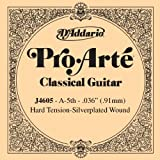D\'Addario Corde seule en nylon pour guitare classique D\'Addario Pro-Arte J4605, Hard, cinquième corde