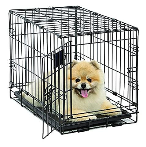MidWest Life Stages Single-Door Folding Metal Dog Crate, 22 Inches