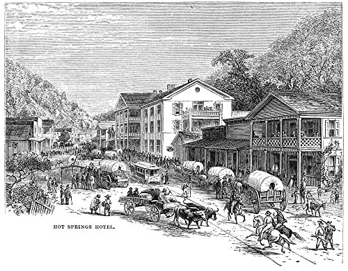 The Poster Corp Arkansas: Hot Springs. /Nhot Springs Hotel. Line Engraving 1878. Kunstdruck (60,96 x 91,44 cm) - Hot Springs Arkansas Hotels