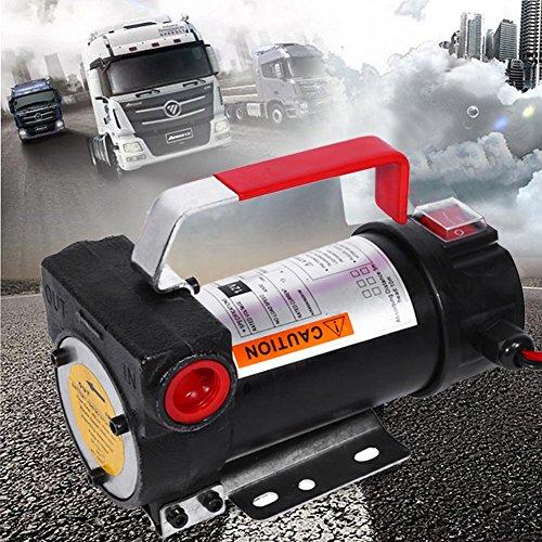 GOTOTOP Pompa a Diesel e NAFTA, Elettrica Pompa a gasolio Autoadescante gasolio trasferimento Pompa Kit, combustibile per Riscaldamento,Portatile 12V DC 160w 40L/min