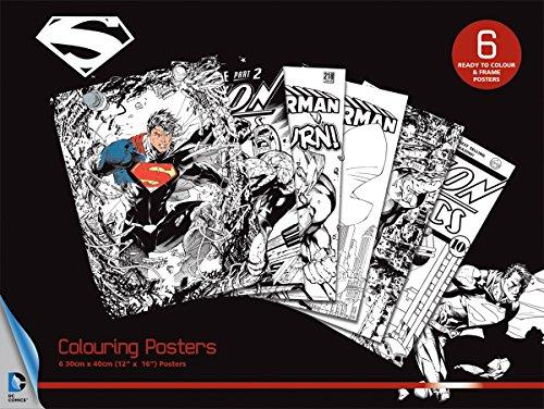 set-de-6-posters-para-colorear-dc-comics-superman-motivos-diversos
